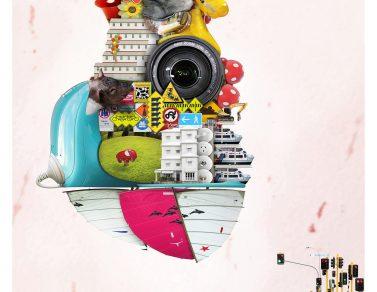 微天堂 – 心跳飛船 100x100cm 數位操控影像 2011